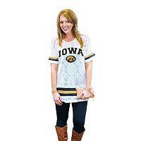 Women's Gameday Couture Iowa Hawkeyes Retro Tee