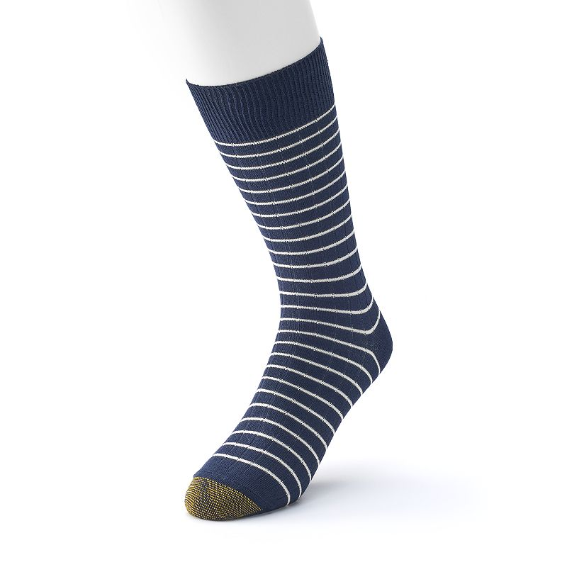 Men's GOLDTOE Simple Stripe Crew Socks