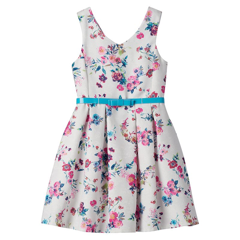 Girls 7-16 Knitworks Floral Skater Dress