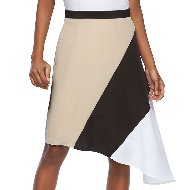 Women's REED Asymmetrical Colorblock Skirt