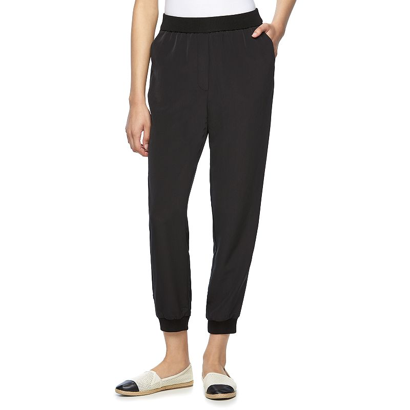 New Elie Tahari For DesigNation French Terry Jogger Pants  Womens