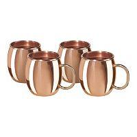 OGGI 4-pc. Copper Moscow Mule Shot Mug Set