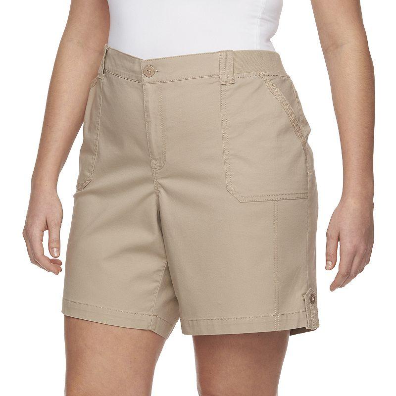 Plus Size Gloria Vanderbilt Jess Twill Shorts