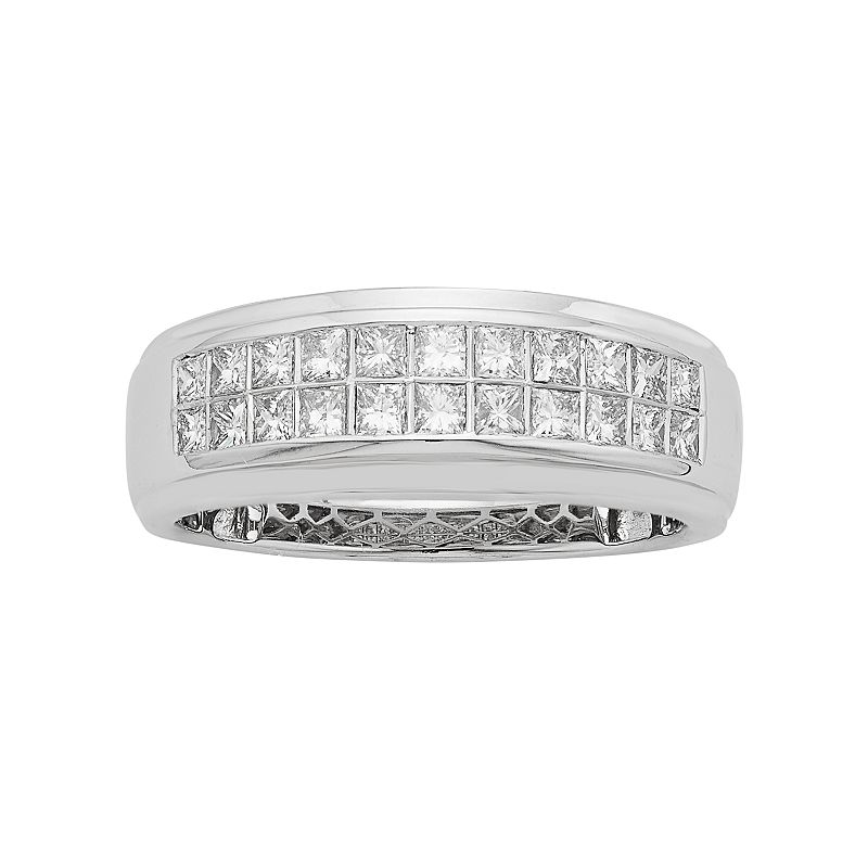 Men's 14k White Gold IGL Certified 1 Carat T.W. Diamond Wedding Band