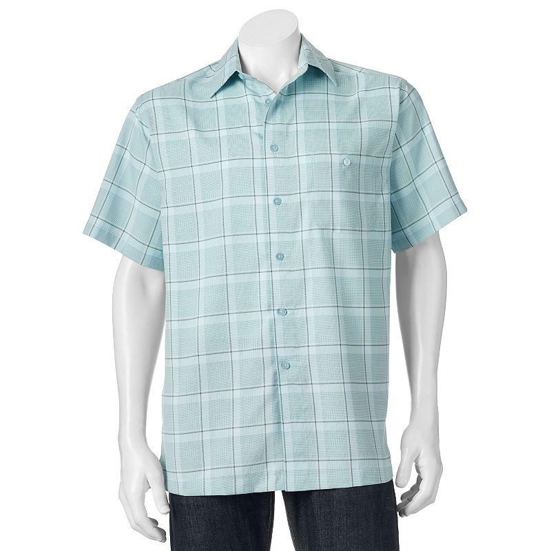 Men's Haggar Microfiber Button-Down Shirt