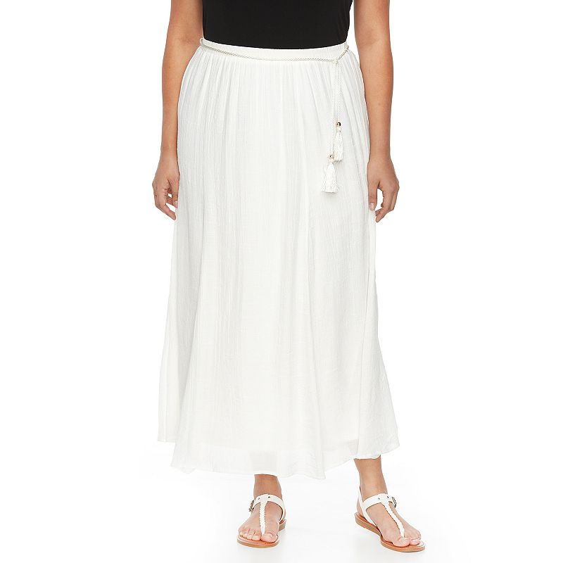 Plus Size AB Studio Gauze Maxi Skirt