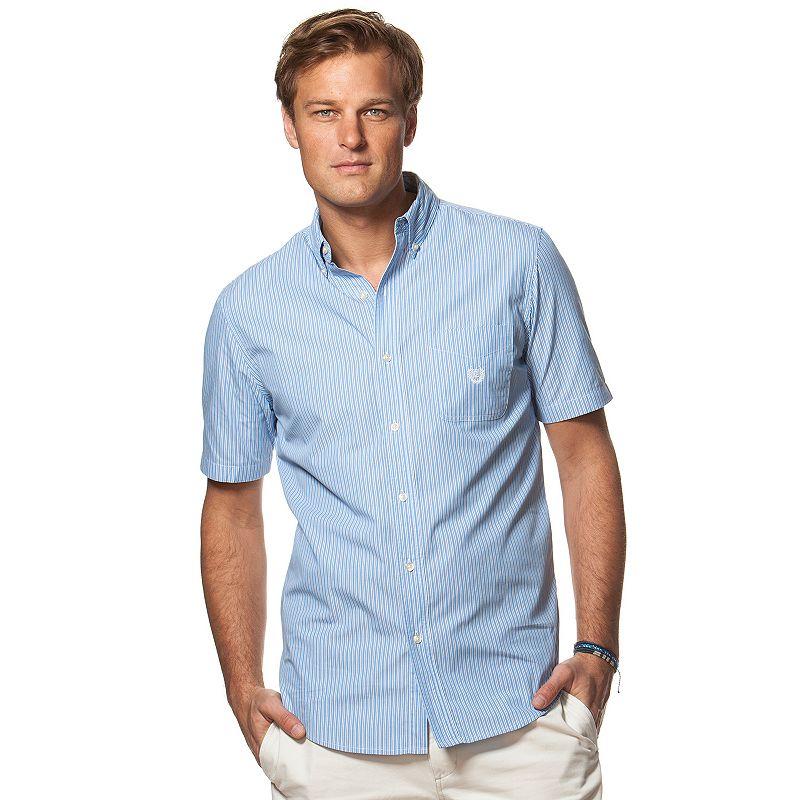 Men's Chaps Classic-Fit Striped Poplin Button-Down Shirt