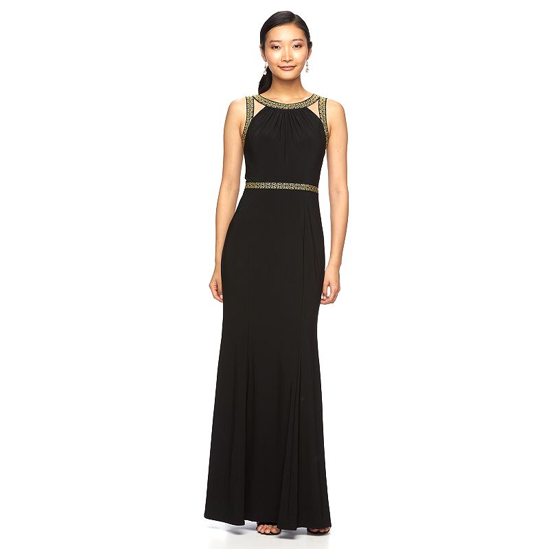 Women's 1 by 8 Embroidered Evening Gown