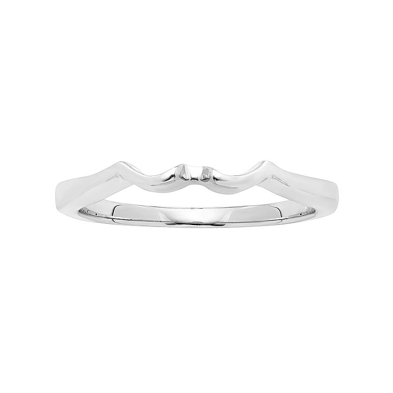 14k White Gold Shadow Wedding Ring