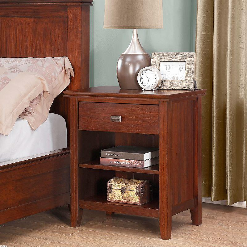 Simpli Home Artisan Nightstand, Brown