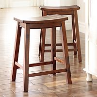 SONOMA Goods for Life 2-Piece Cameron Saddle Counter Stool Set (Multi Colors)