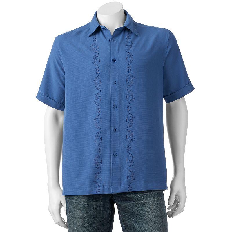 Men's Havanera Tonal Print Button-Down Shirt