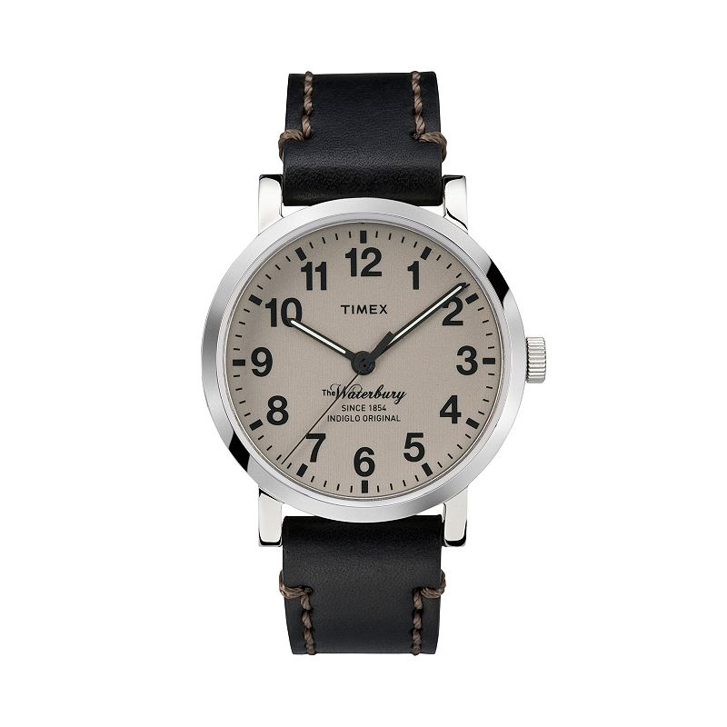 Timex Men's Waterbury Leather Watch