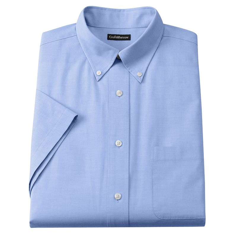 Men's Croft & Barrow® Classic-Fit Oxford Button-Down Collar Dress Shirt