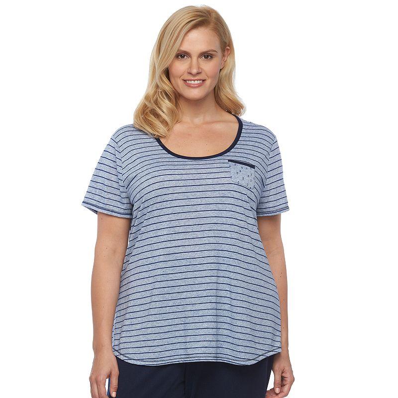 Plus Size Croft & Barrow® Pajamas: Soft Splendor Printed Lounge Top