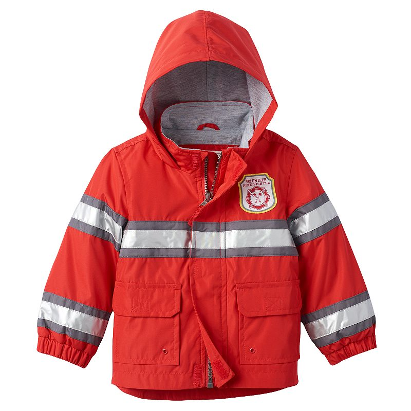 Boys 4-7 Carter's Reflective Fireman Rain Jacket