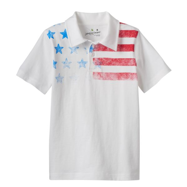 Boys 4-7x Jumping Beans® Patriotic American Flag Polo