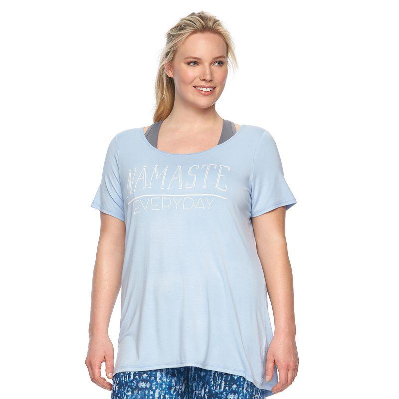 Plus Size Gaiam Graphic Yoga Tee