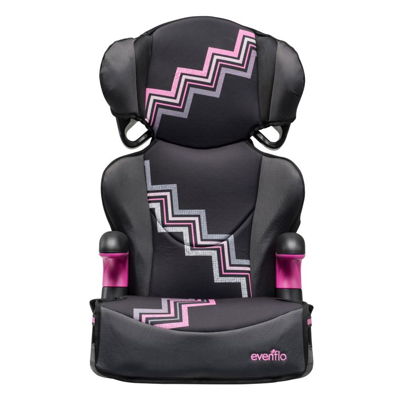 Evenflo Big Kid Sport Mia 2-in-1 Booster Car Seat, Pink
