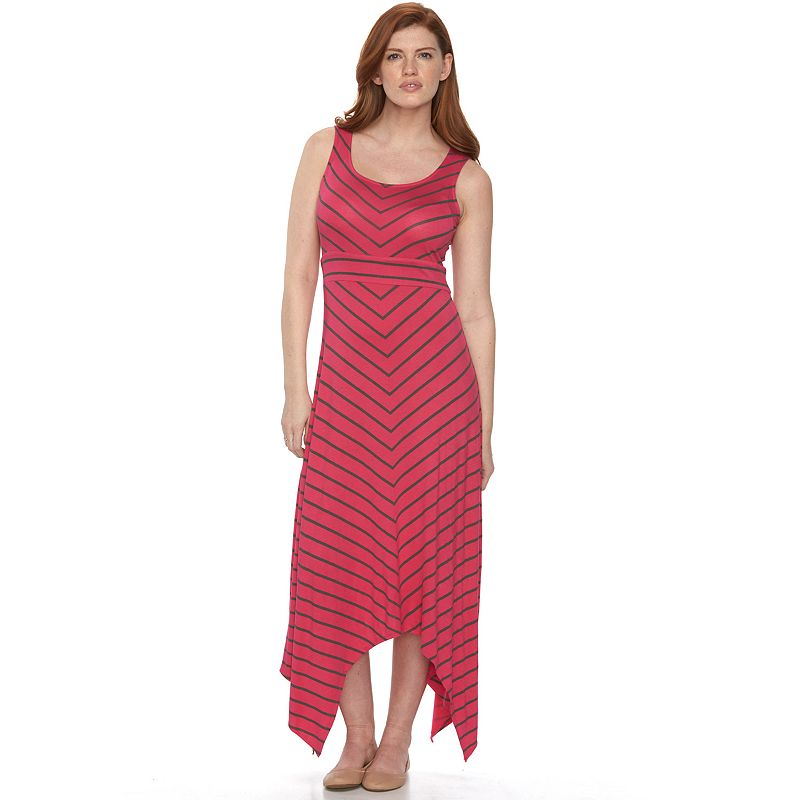 Petite Apt. 9® Shark-Bite Hem Maxi Dress
