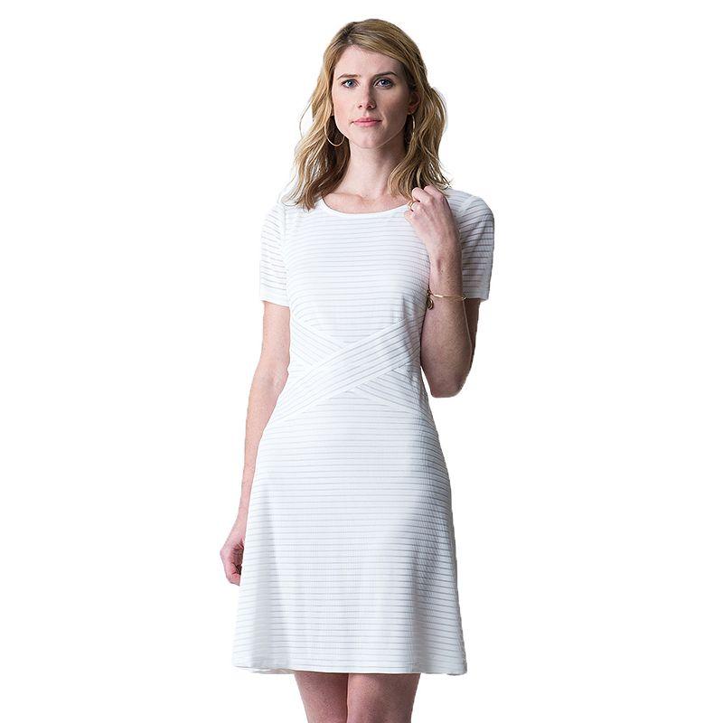 Women's Indication Burnout Stripe Fit & Flare Dress