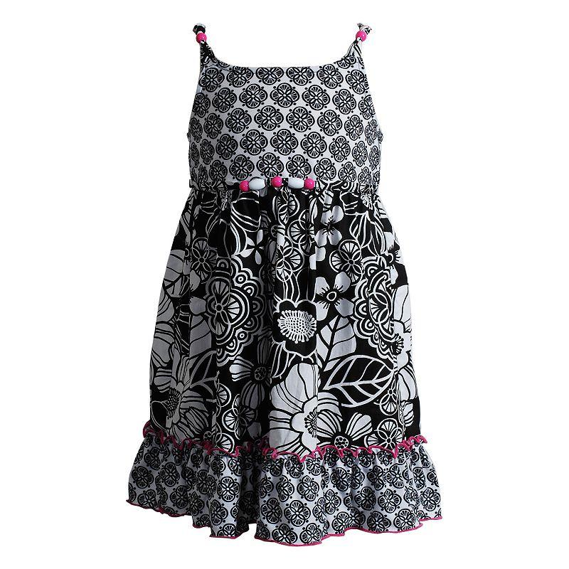 Girls 4-6x Youngland Knit Poplin Floral Sundress