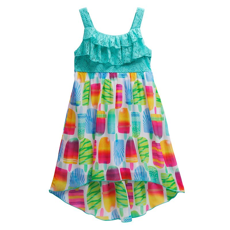 Girls 4-6x Youngland Crochet Popsicle High-Low Dress