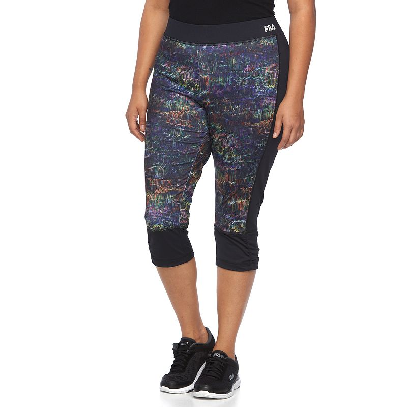 Plus Size FILA SPORT® Printed Capri Running Tights