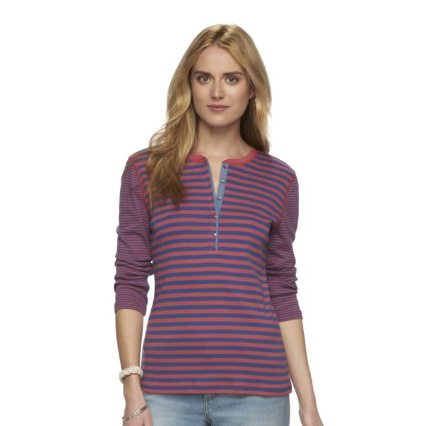 Petite Chaps Striped Henley