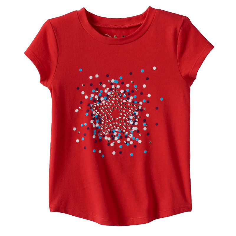 Toddler Girl Jumping Beans® Patriotic Bling Tee