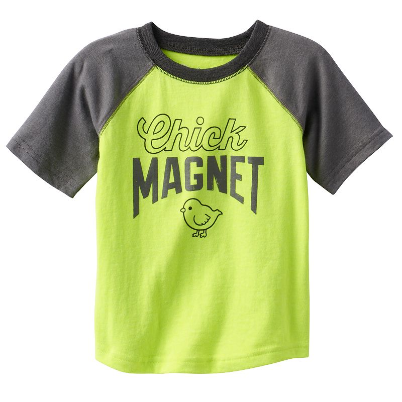 Toddler Boy Jumping Beans® Neon Raglan Graphic Tee