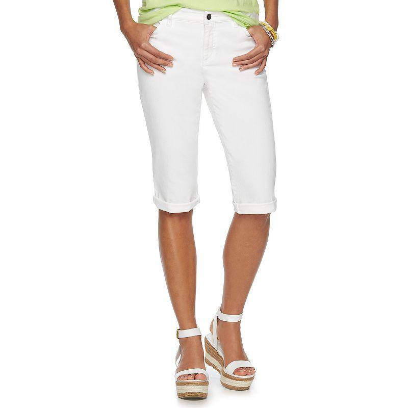 Petite Chaps Modern Fit Bermuda Shorts