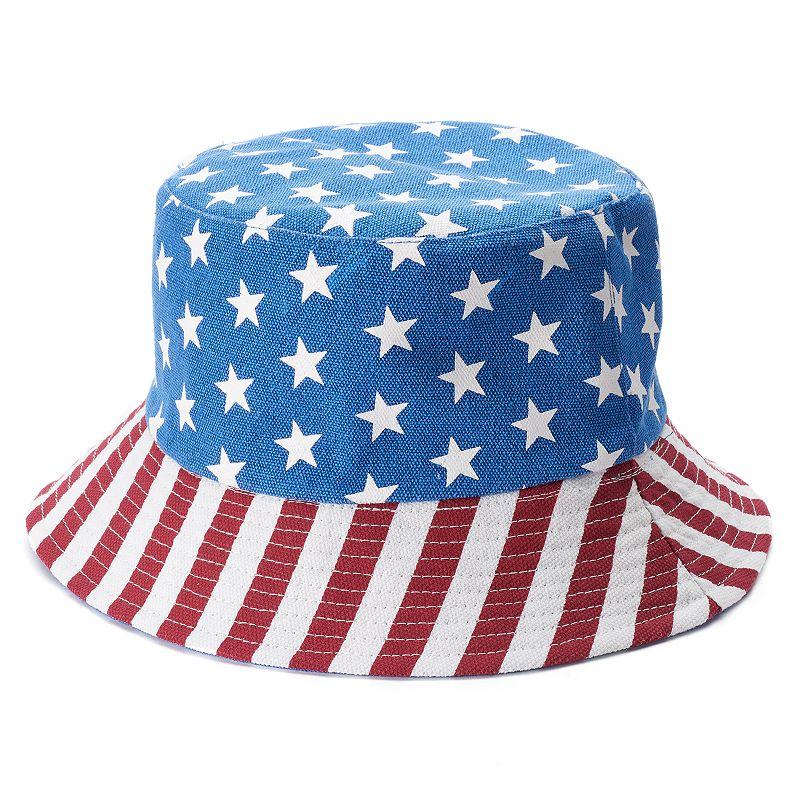 Women's US American Flag Bucket Hat