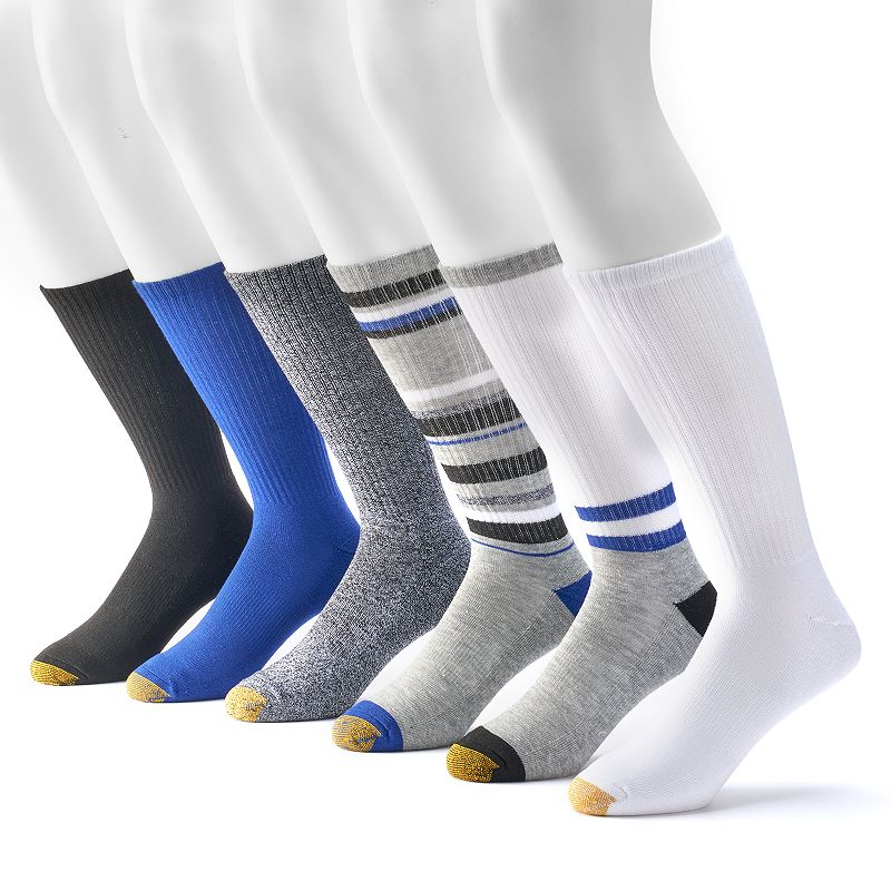 Men's GOLDTOE 6-Pack Sport Crew Socks