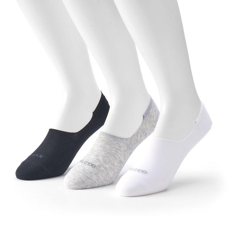 Men's GOLDTOE 3-Pack Ultra-Low Oxford Socks