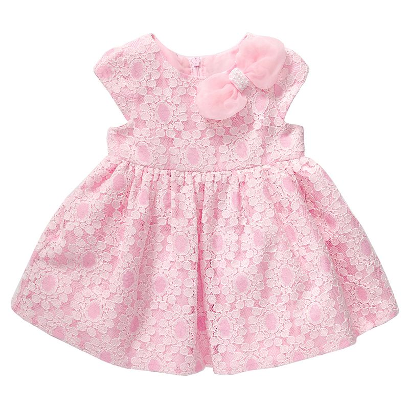 Baby Girl Youngland Lace Bow Dress