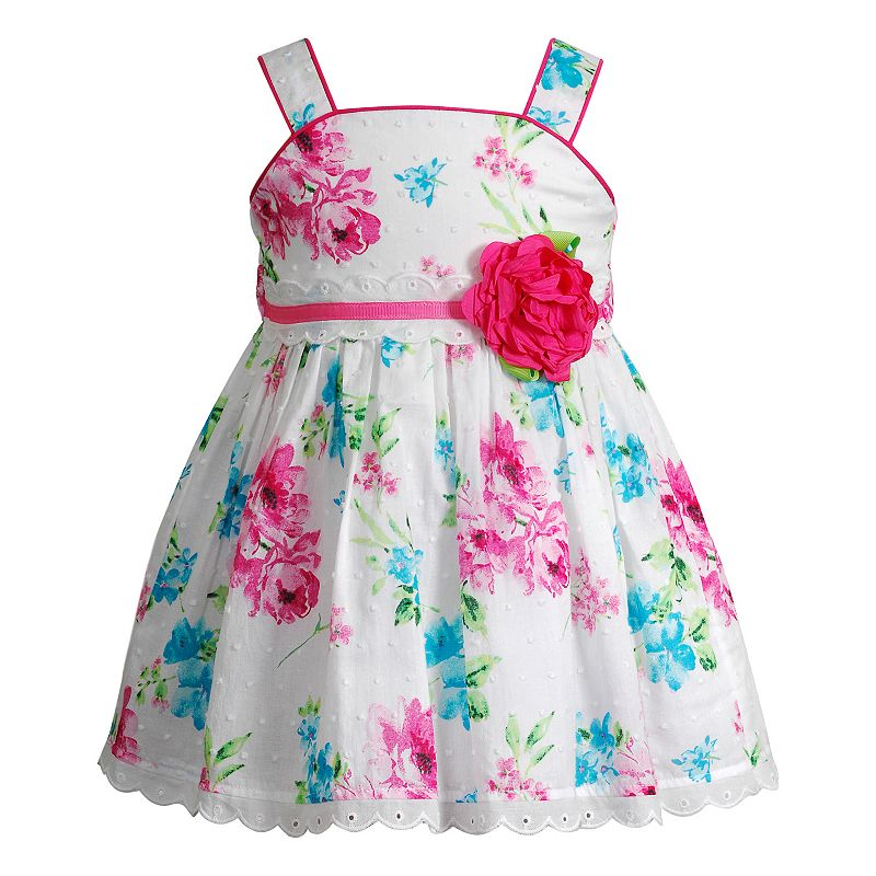 Baby Girl Youngland Floral Rosette Dress