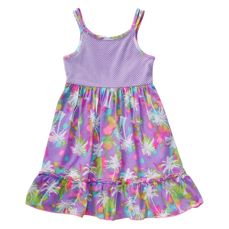 Toddler Girl Youngland Purple Palm Tree Dress