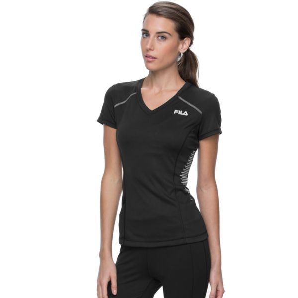 Women's FILA SPORT® Glow Striped V-Neck Running Tee