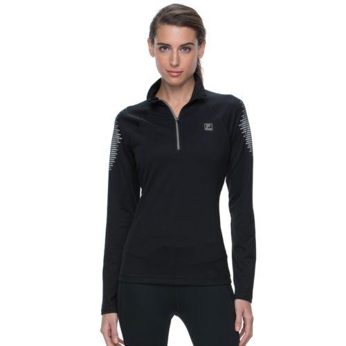 Women's FILA SPORT® Glow Colorblock Quarter-Zip Running Jacket