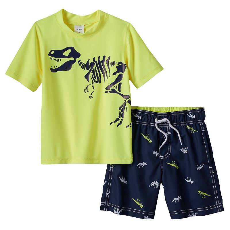 Baby Boy Carter's Dino Tee & Swim Trunks Set