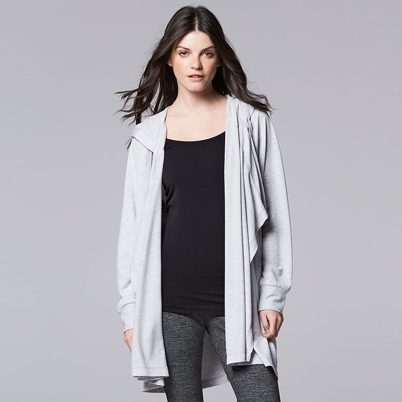 Women's Simply Vera Vera Wang Simply Breathe Flyaway Cardigan