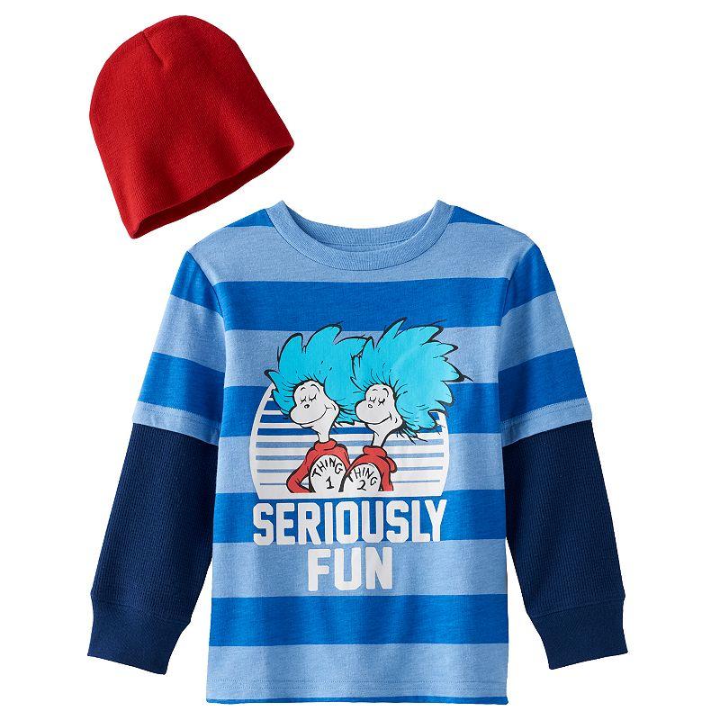 Toddler Boy Dr. Seuss Thing 1 & Thing 2 Mock-Layered Tee