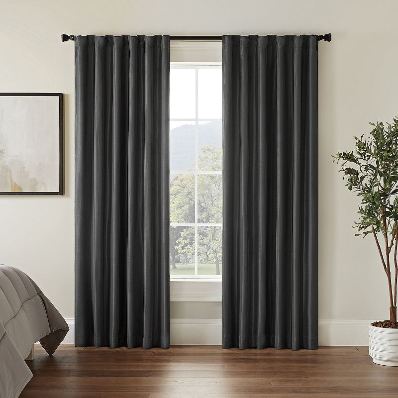 Grey Rod Pocket Curtain