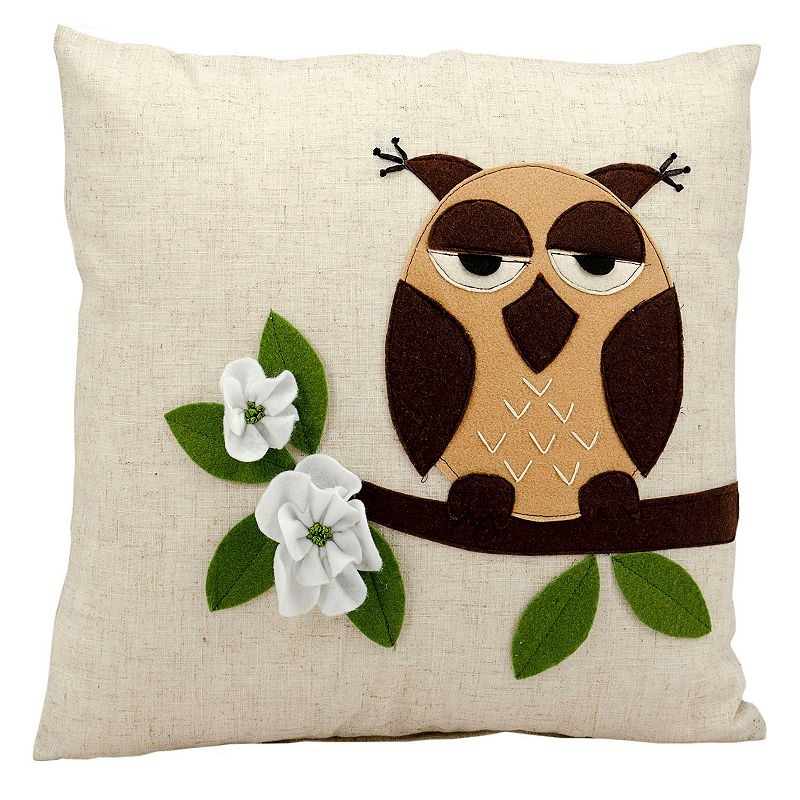 Mina Victory One Owl Throw Pillow