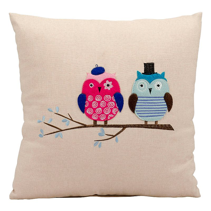 Mina Victory Mr & Mrs Owl Throw Pillow
