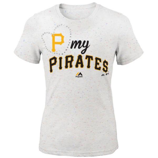 Girls 7-16 Majestic Pittsburgh Pirates My Heart Tee