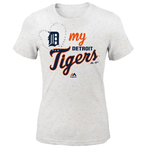 Girls 7-16 Majestic Detroit Tigers My Heart Tee