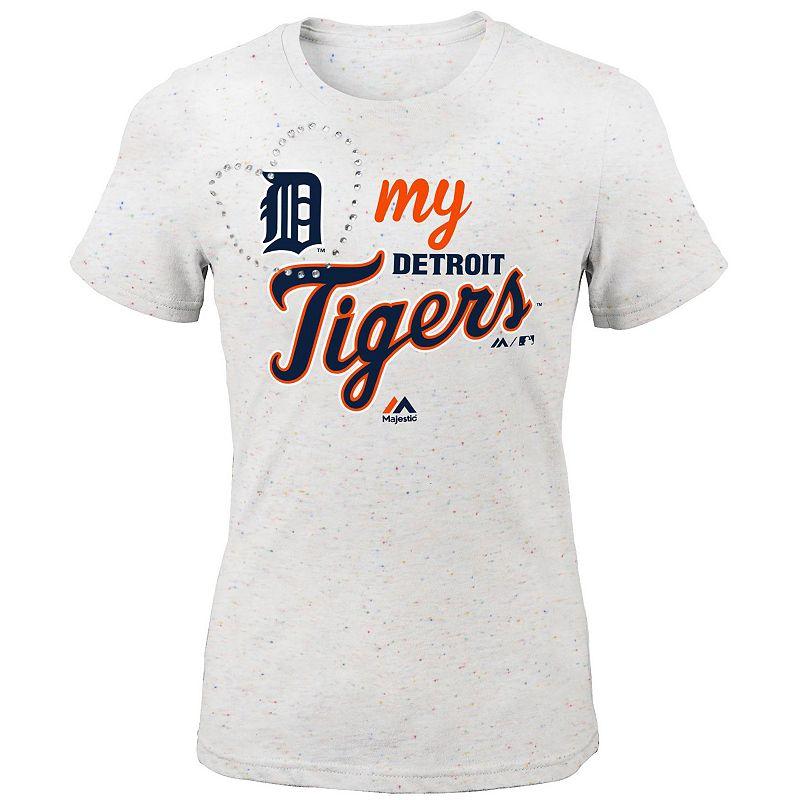 Girls 7-16 Majestic Detroit Tigers My Heart Tee