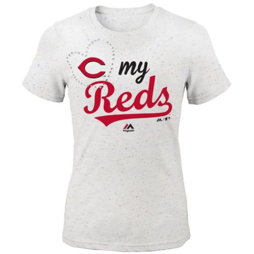 Girls 7-16 Majestic Cincinnati Reds My Heart Tee